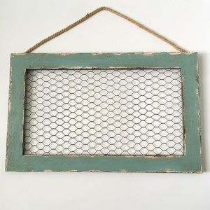 Other - Rustic Wood and Chicken Wire Frame.